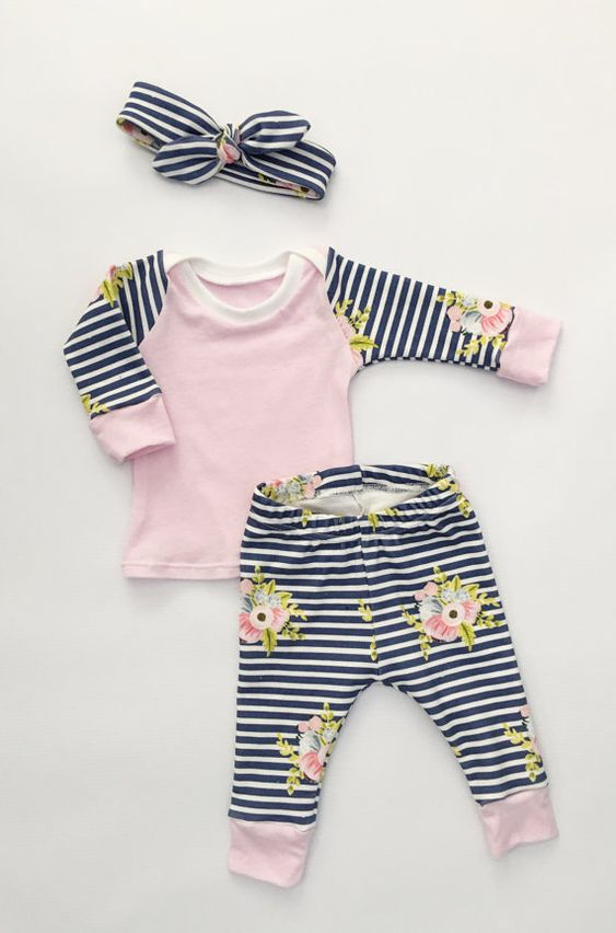 baby girl outfit baby girl take home outfit by LittleBeansBabyShop