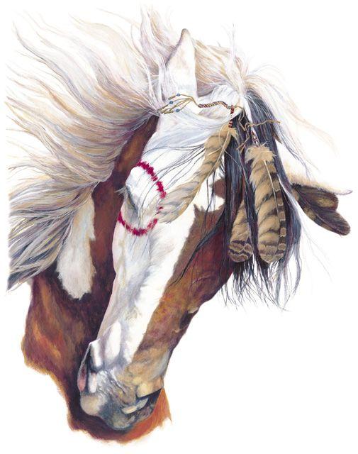 Native American War Horse tack | Native American Horse War ... Paint Horse Tattoos