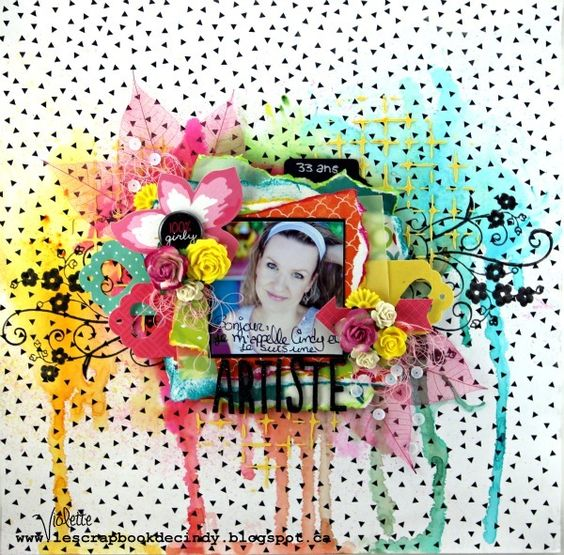 Scrapbooking 2015, Mimosa Embellissements, Scrap Around the World October 2015