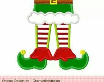 Elf bottom half legs shoes Cookie CuttersStamps