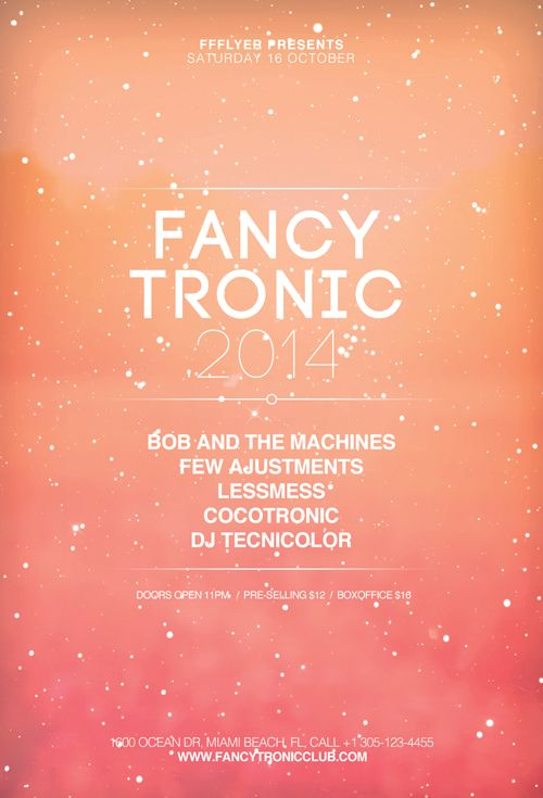 Free Fancy Tronic Indietronic Club Flyer Template - http - club flyer background