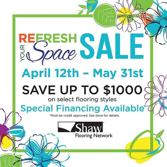 Refresh Your Space For Spring And Save Up To 1 000 On Select Styles Of Shaw Flooring Hurry In Today Offer Ends March 31 Shaw Flooring Flooring Flooring Sale