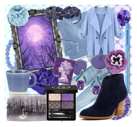 """Purple Moon"" by beograd-love ❤ liked on Polyvore featuring Current/Elliott, Blair, Palm Beach Jewelry, Arunashi, Christian Dior, Chanel, Jars, La Preciosa, Too Faced Cosmetics and Ted Baker"