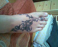 Foot Tattoos | by BlaqqCat Tattoos