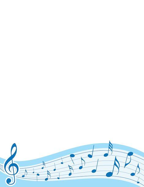 Music Notes Corner Bor...