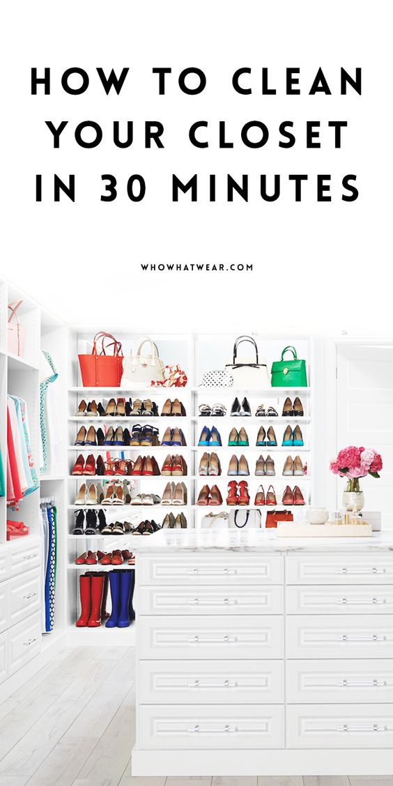 How to clean out your closet in 30 minutes or less - Cleaning out your closet ...
