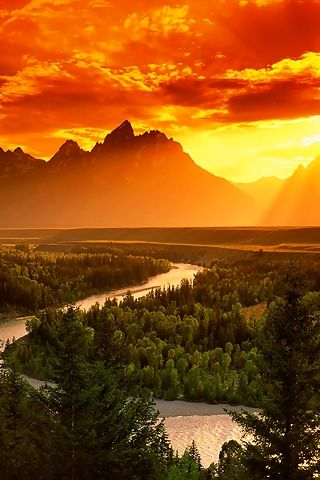 Grand Teton National Park where you can explore over two hundred miles of trails, float the Snake River or enjoy the serenity of this remarkable place.