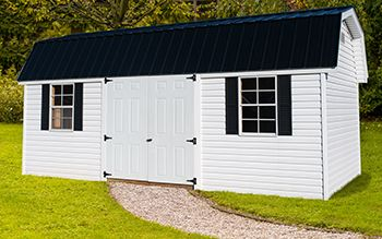 Nice Looking Sheds Direct Vinyl Barn With Doors On The