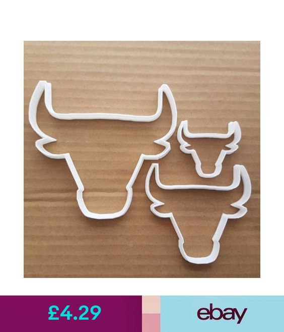 Bull Head Buffalo Shape Cookie Cutter Dough Animal Biscuit Pastry Fondant Sharp