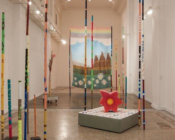 Los Angeles Times art review by David Pagel: Lorenzo Hurtado Segovia weaves a colorful landscape