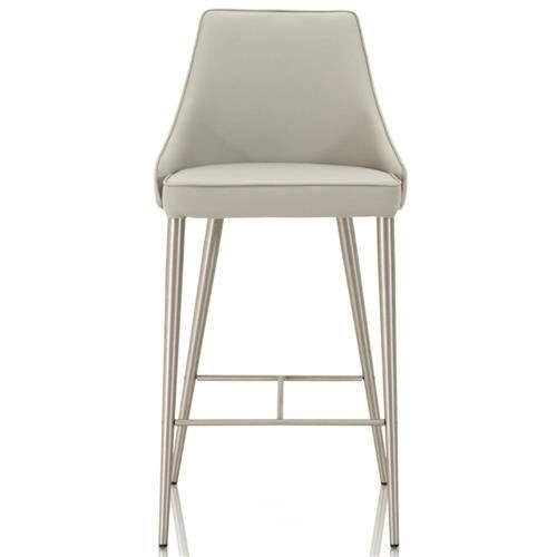 Landon Modern Classic Grey Leather Stainless Steel Bar Stool In 2020 Stainless Steel Bar Stools Steel Bar Stools Counter Stools