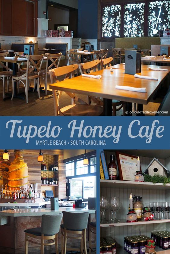 Tupelo Honey Cafe - The Market Common, Myrtle Beach, SC by Calculated Traveller. This restaurant is full of Southern charm and responsibly-sourced ingredients.