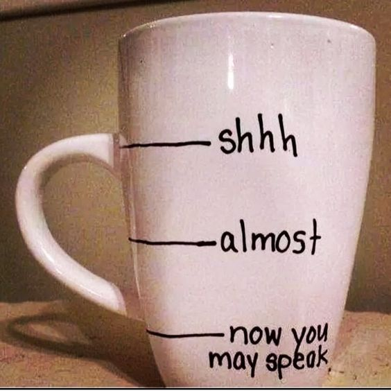 Gotta have coffee in the morning, always :)