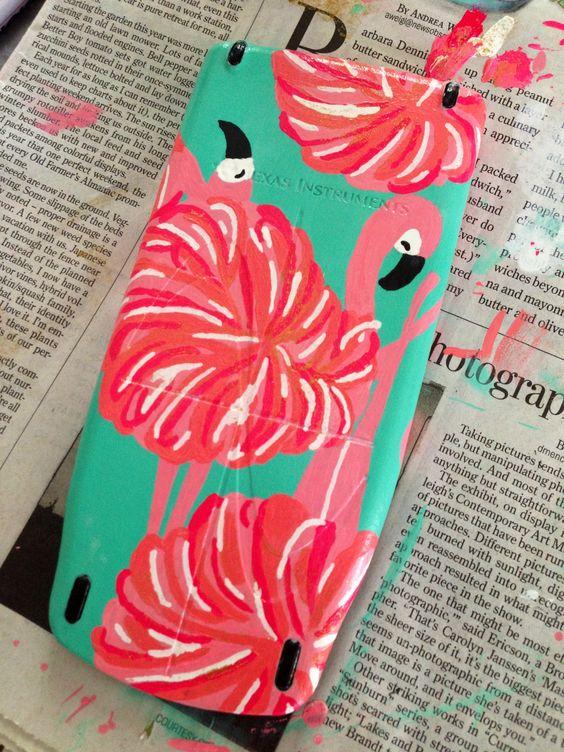 rekenmachine pimpen met flamingo's