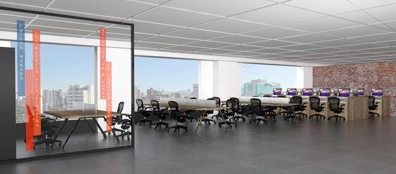 A nova sede da Conecta Serviços, realizada pela Arealis Brasil !  3D da nova sede  #architetura #corporativa #architecture #corporate