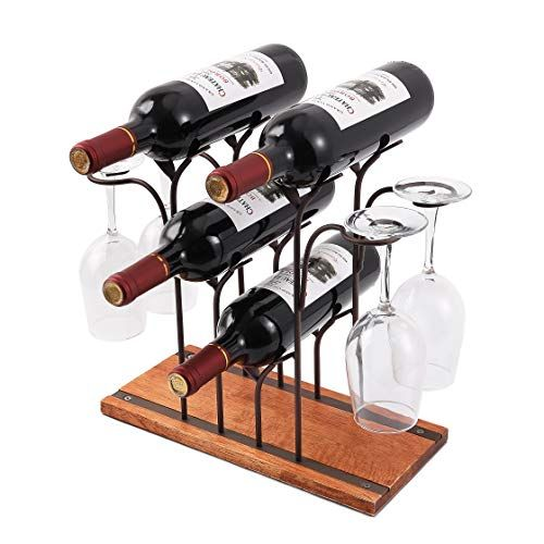 Countertop Wine Rack Tabletop Wood Wine Holder Perfect Https