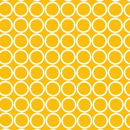 $7 #yellow #fabric #modern #mustard #circles