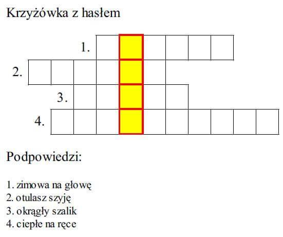 Zimowe Lamiglowki Bar Chart Crossword Puzzle Chart