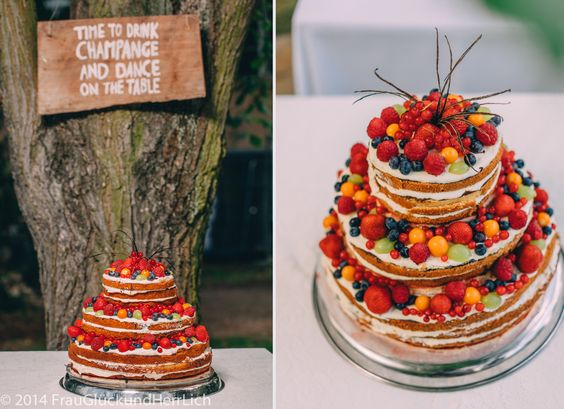 Naked Cake mit frischen Früchten   Foto: FrauGlückundHerrLich