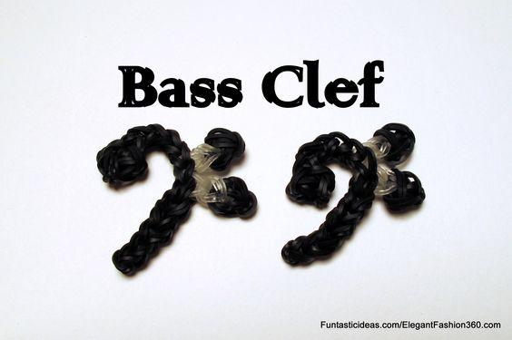 Rainbow loom Bass Clef charm ♥Subscribe YouTube Channel:  https://www.youtube.com/user/ElegantFashion360  ♥ Sing up for Newsletter: http://elegantfashion360.com
