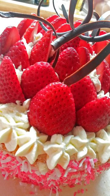 Erdbeer-Kokos Torte | Kleine Dorfküche