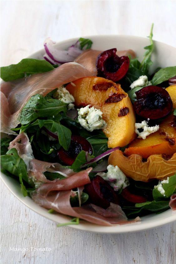Mango & Tomato: Grilled Peach Summer Salad