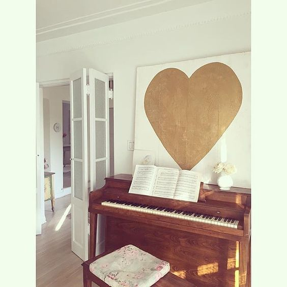 Piano practice & big heart.