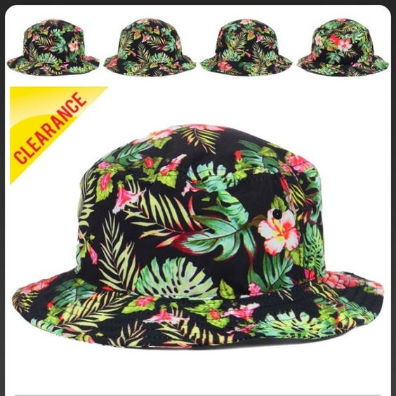 Floral Buckethat Never been worn. Want to get rid of it. It's just been collecting dust on my hat rack. Perfect condition Lids Accessories Hats