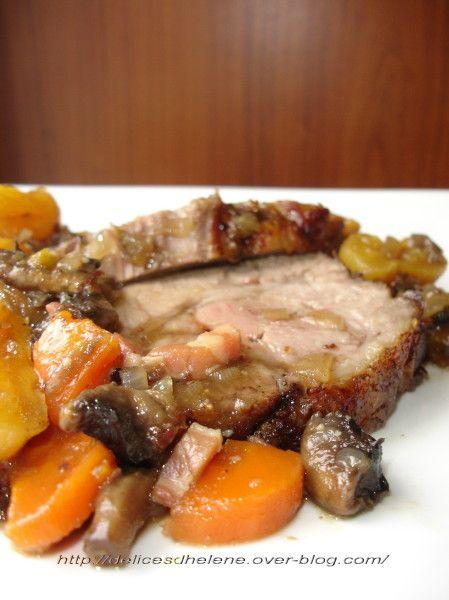 Avis aux amateurs de recettes en version sucrée-salée, celle-ci est faite pour vous! De plus la cuisson de la viande conserve son côté moelleux grâce à la technique de la cuisson vapeur. Une superbe recette originale! Bon ok, je vous l'accorde cette recette...