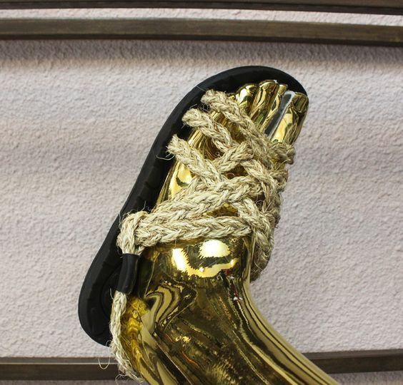 Aliexpress.com: Comprar Hkshaka super suave plantilla para hombre moda cuerda de cáñamo vendimia deslizadores de las sandalias de deslizador de cuero confiables proveedores de zhaoerhua.
