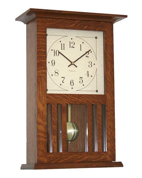 Amish Craftsman Mission Wall Clock Wall Clock Craftsman Clocks Craftsman Wall Clocks