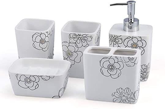 European Bathroom Set Bath, Five Piece Bathroom Rug Sets
