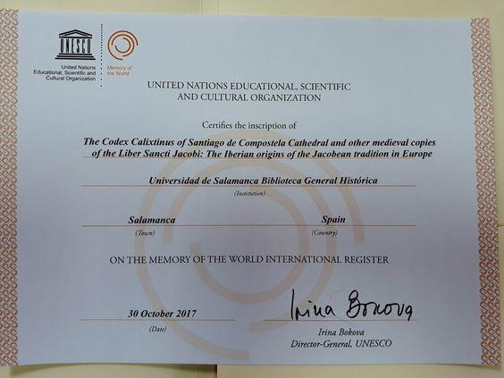 Diploma Memoria del Mundo