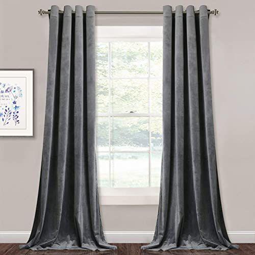 New Stangh Grey Velvet Curtains Living Room 96 Inches Long Light