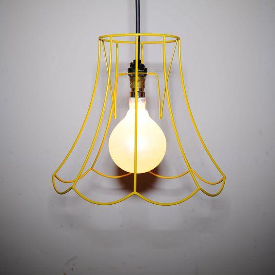 eu.Fab.com | Lampenschirm Oval Gelb S
