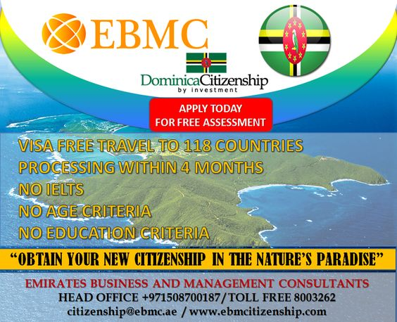 Get Your Second Citizenship Passport within 4 Months. Travel to 118 Countries without any Visa Contact +971508700187 / citizenship@ebmc.ae www.ebmcitizenship.com