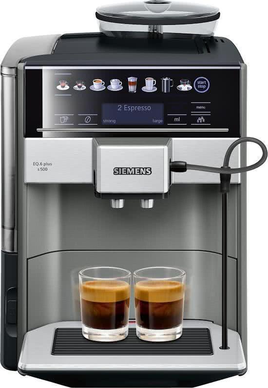 Siemens Eq6 Plus Te655203rw Espressomachine Volautomaat Rvs Espresso Coffee Machine Espresso Machine Automatic Espresso Machine