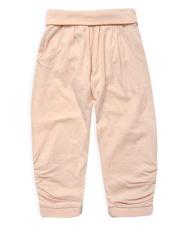 Another great find on #zulily! Powder Pink Harem Pants - Toddler & Girls by Pumpkin Patch #zulilyfinds
