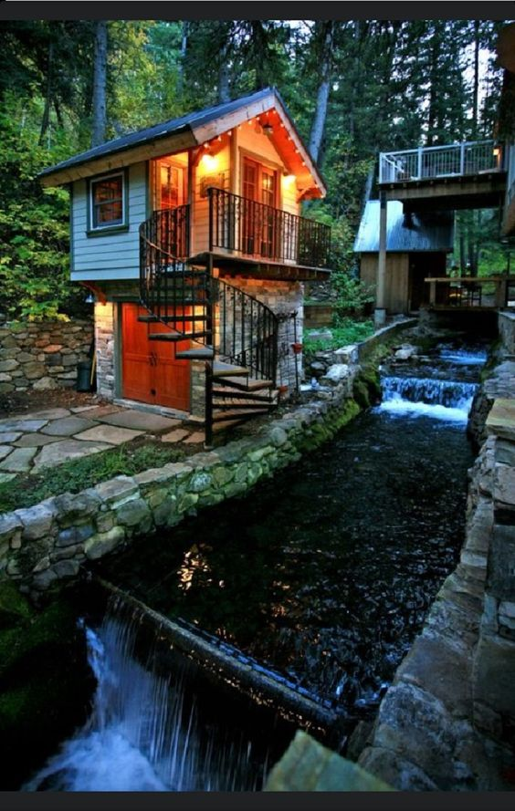 Stone Cottage In The Woods Pinterest • The worl...