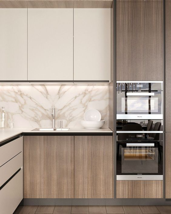 Love This Unique Simple Kitchen Area Re Create This Look With Rauvisio Terra Simple Kitchen Design Modern Kitchen Cabinet Design Kitchen Room Design