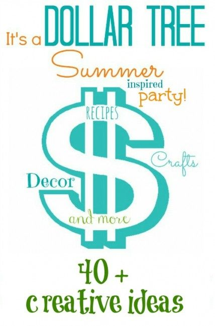 Dollar Tree Craft - #Dollartree Summer inspired creative ideas. 40+, #recipes, decor and more!