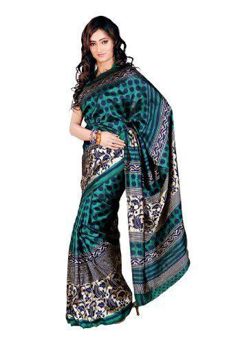 Indian Designer Wear Tussar Silk Green Printed Saree Fabdeal, http://www.amazon.de/dp/B00J0V0W4E/ref=cm_sw_r_pi_dp_j46otb1AVNHPM