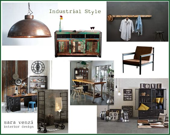 moodboard industrial style inneneinrichtung pinterest. Black Bedroom Furniture Sets. Home Design Ideas