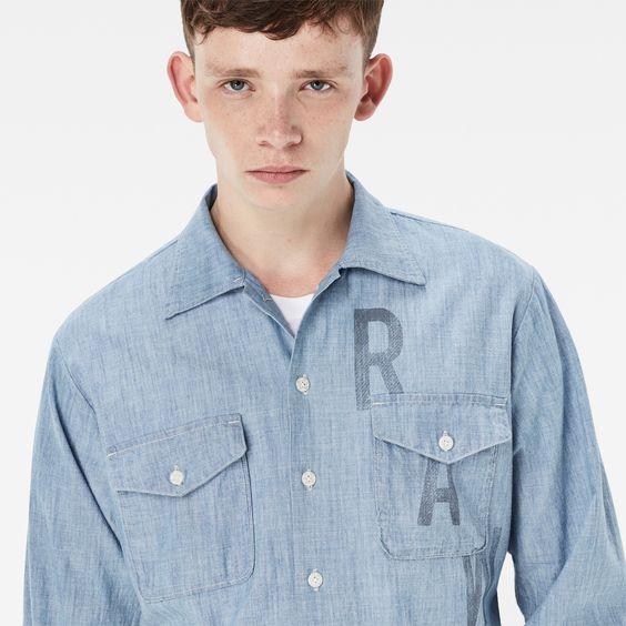 G-Star RAW | Heren | Overhemden | Raw Utility Shirt , Light Aged