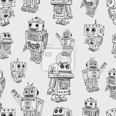 Papier peint modèle de robots jouets