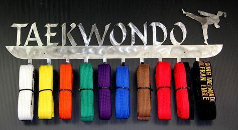 Tae Kwon Do Belt Holder- Martial Arts Belt Rack- Karate Belt Display – Best on the Planet Martial Arts Belt Racks,Taekwondo, Karate Belt Display Racks