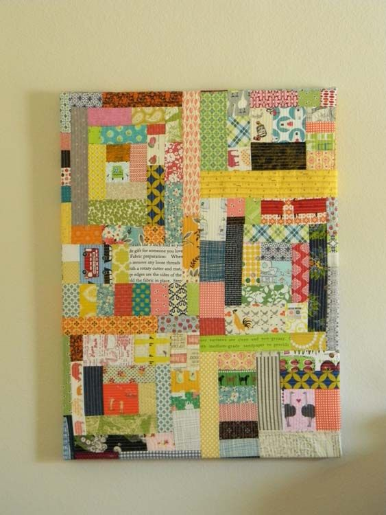 Laurie Wisbrun   Scarlet Fig: Scrappy wall hanging