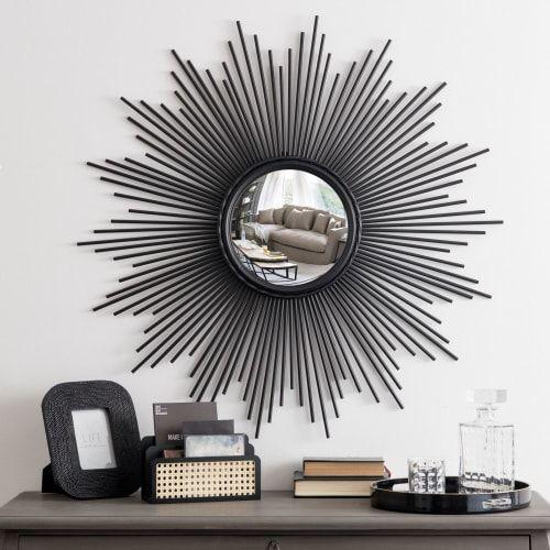 Miroir Rond Convexe Filaire Noir D99 Maisons Du Monde Miroir Convexe Miroir Rond Miroir