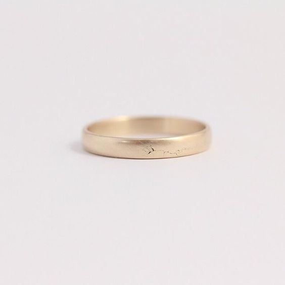 Plain gold band? Made from alluvial gold collected right here in NZ, it's a bit too special to be called plain. Most gold wedding rings create 10 tonnes of mining waste, this one creates zero. Check out all of our plain bands by clicking the link in the