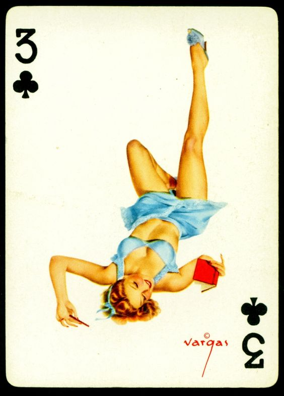 The effects Girl playing card